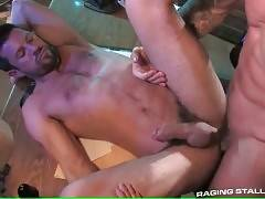 Trenton Ducati replaces butt plug in Kile`s ass with his stiff dong.