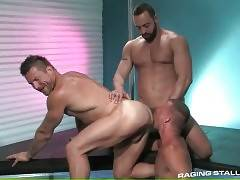 Muscled Buddies Warm Each Other Up 3