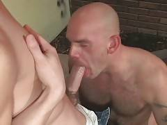 Mature Bear And Cute Stud Exchange Blowjobs 1 - Muscled daddy and naughty guy exchange passionate blowjobs.