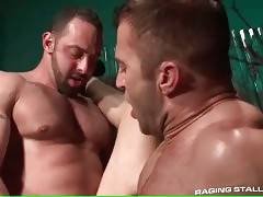 Bear likes to feel friend`s dick in his mouth and ass.